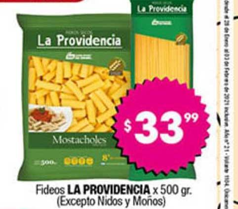 Cordiez Fideos La Providencia