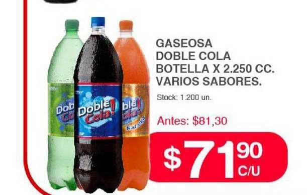 Supermercados Tadicor Gaseosa Doble Cola Botella