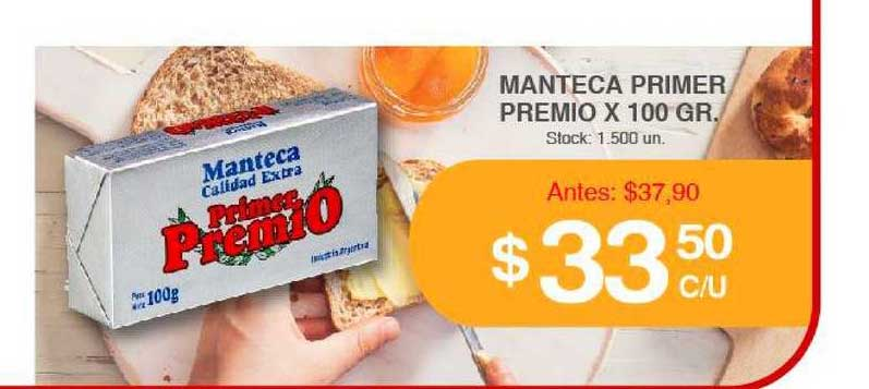 Supermercados Tadicor Manteca Primer Premio