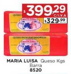 Hiper May Maria Luisa Queso Kgs Barra