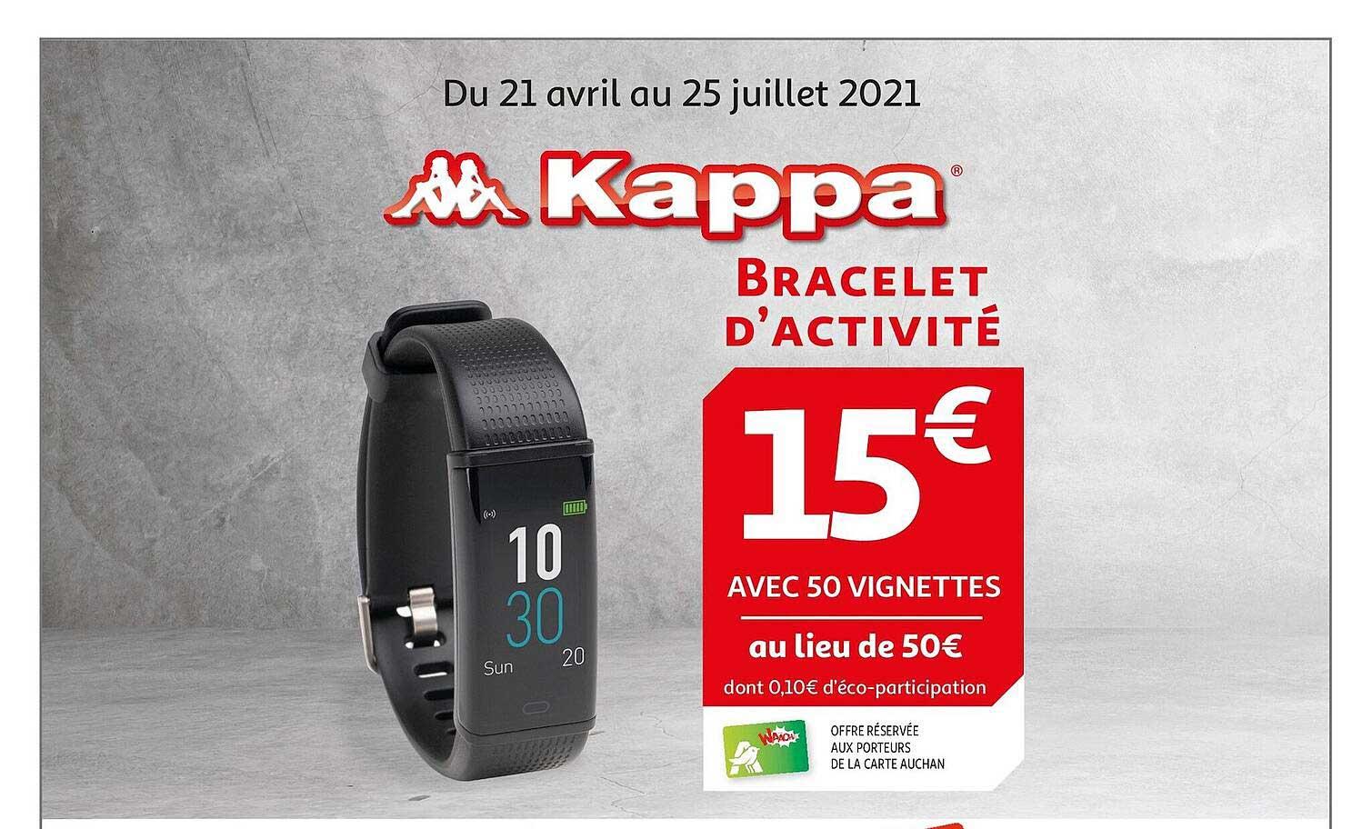 Auchan Bracelet D'activité Kappa