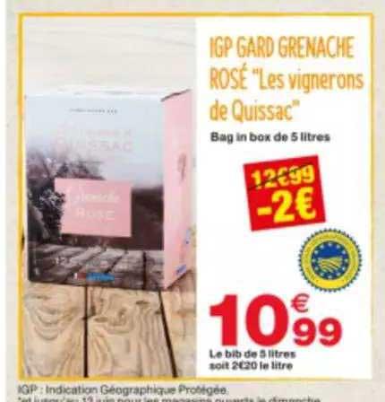 Grand Frais Igp Gard Grenache Rosé Les Vignerons De Quissac