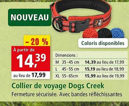 Maxi Zoo Collier De Voyage Dogs Creek