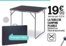 Centrakor La Table De Camping Pliable