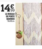 Centrakor Le Rideau De Porte Bambou