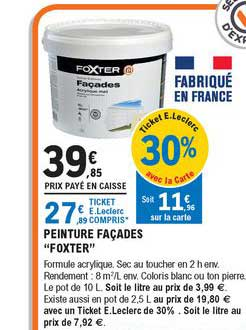 Offre Peinture Facades Foxter Chez Eleclerc Brico