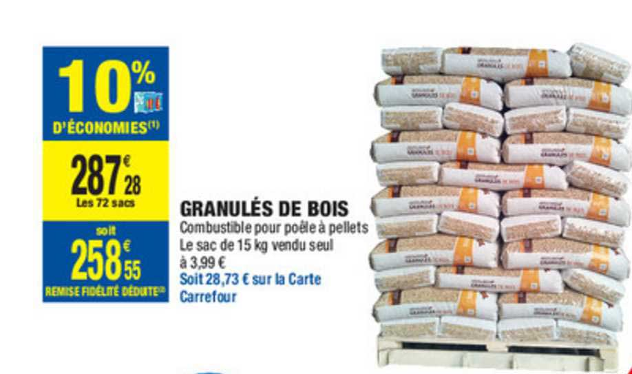 Carrefour Market Granulés De Bois
