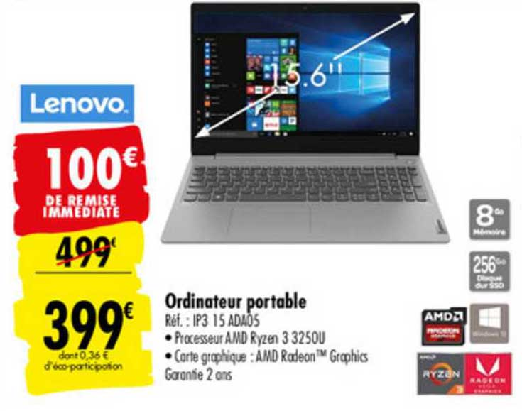 Carrefour Ordinateur Portable Ip3 15 Ada05 Lenovo