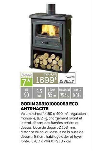 Copra Godin 363101000053 Eco Antrhacite