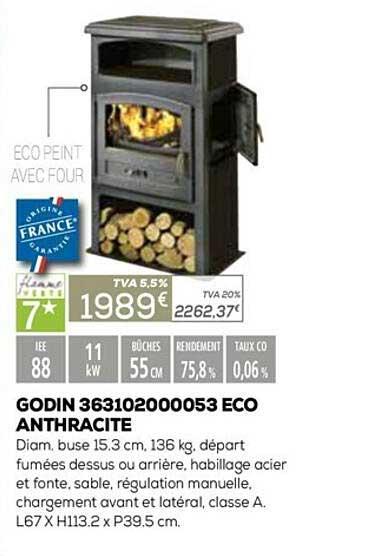 Copra Godin 363102000053 Eco Anthracite