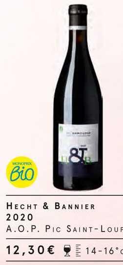 Monoprix Hecht & Bannier 2020 A.o.p. Pic Saint-loup