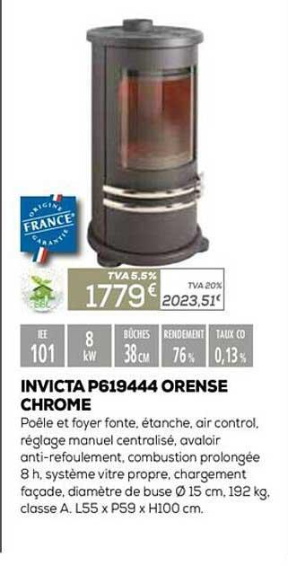 Copra Invicta P619444 Orense Chrome
