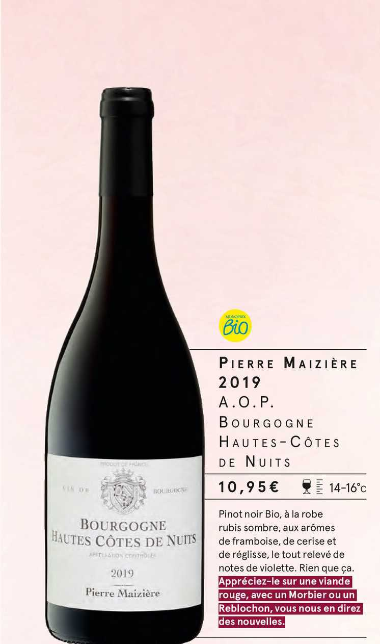 Monoprix Pierre Maizière 2019 A.o.p. Bourgogne Hautes-côtes De Nuits