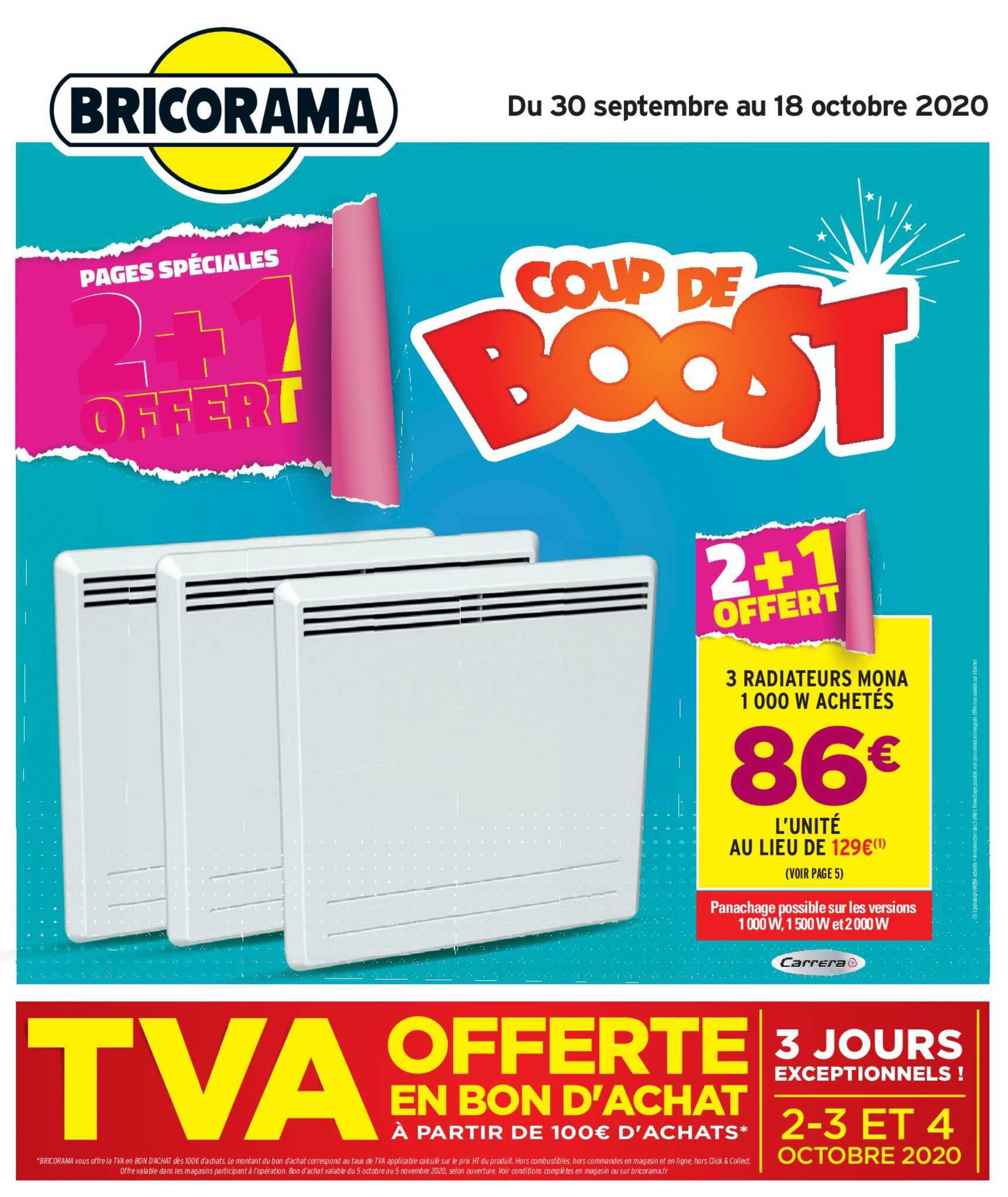 Bricorama 3 Radiateurs Mona 2+1 Offert