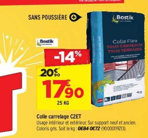 Offre Colle Carrelage C2et Bostik Chez Bricorama