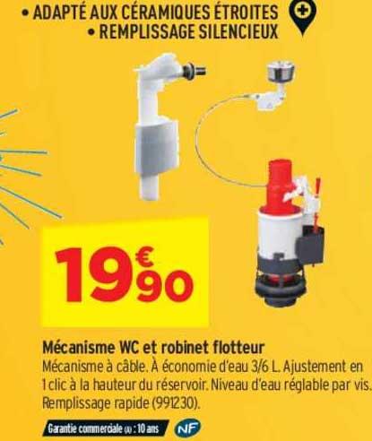 Offre Mecanisme Wc Et Robinet Flotteur Chez Bricorama