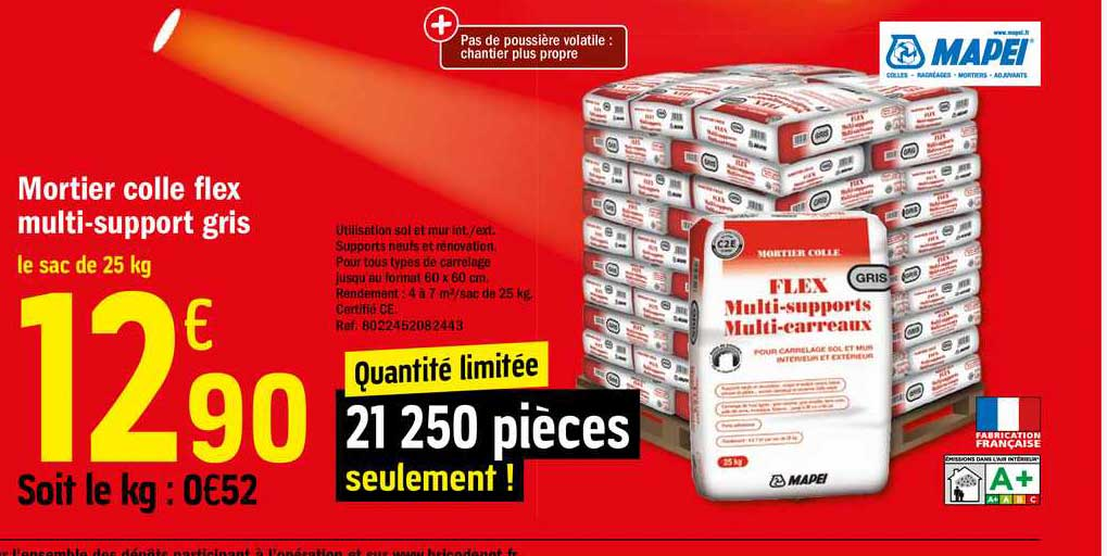 Offre Mortier Colle Flex Multi Support Gris Chez Brico Depot
