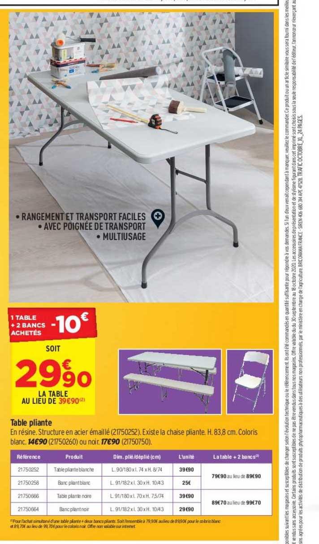 Offre Table Pliante Chez E Leclerc