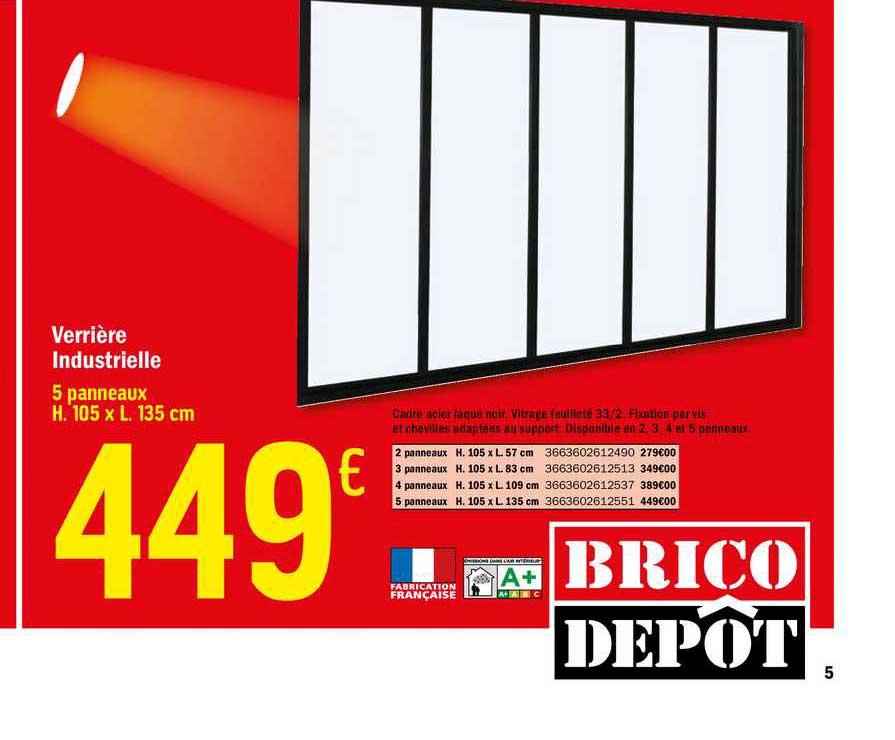 Offre Verriere Industrielle Chez Brico Depot