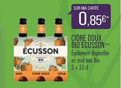 Match Cidre Doux Bio Ecusson