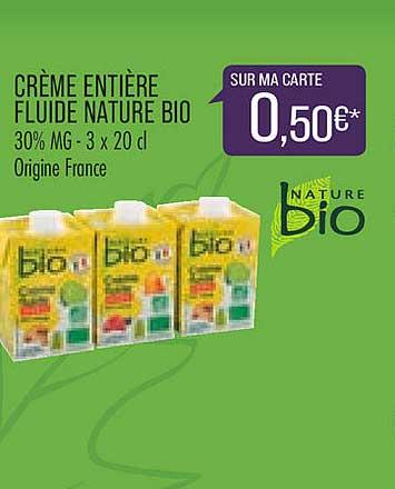 Match Crème Entière Fluide Nature Bio