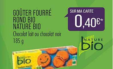 Match Goûter Fourré Rond Bio Nature Bio