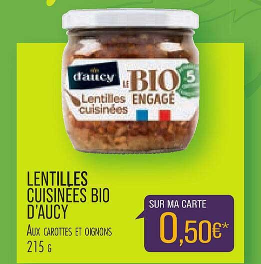 Match Lentilles Cuisinées Bio D'aucy