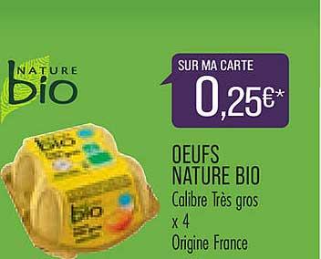 Match Oeufs Nature Bio