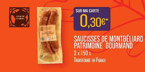 Match Saucisses De Montbéliard Patrimoine Gourmand