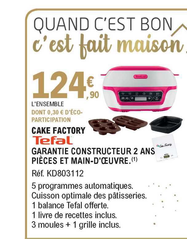 E.Leclerc Cake Factory Tefal