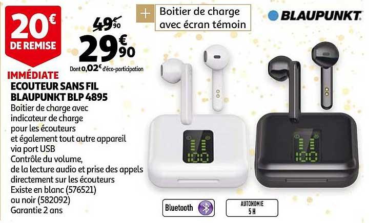 Auchan écouteur Sans Fil Blaupunkt Blp 4895