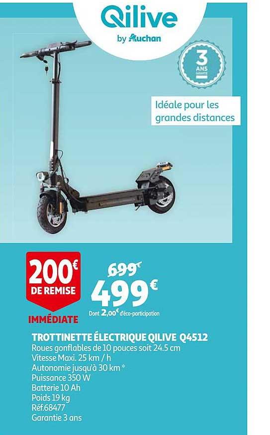 Auchan Trottinette électrique Qilive Q4512