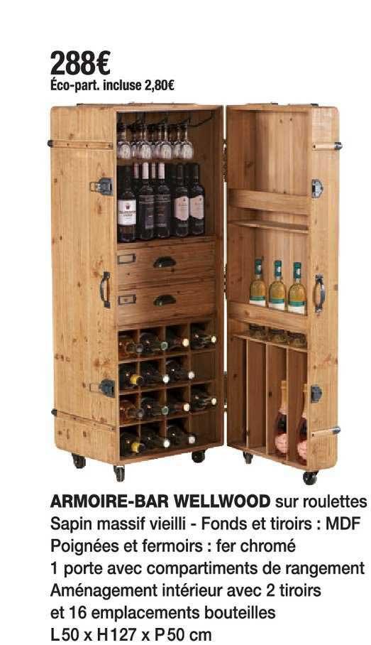 Cocktail Scandinave Armoire-bar Wellwood