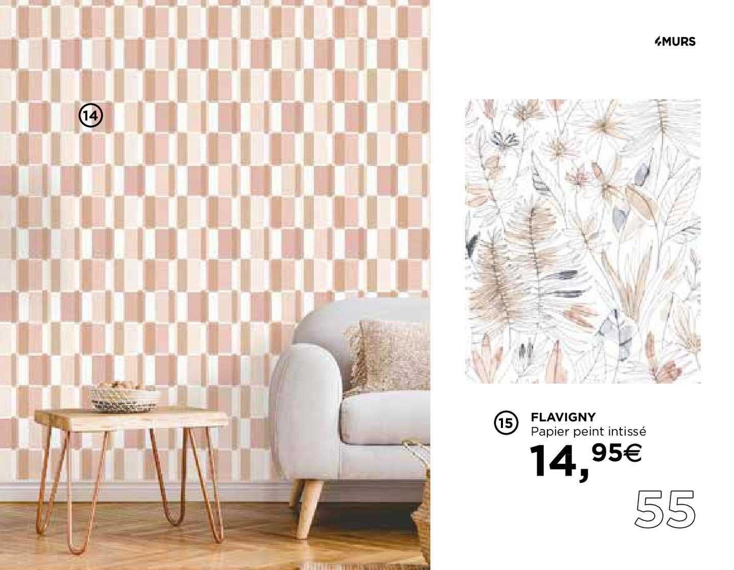 4 Murs Flavigny Papier Peint Intissé