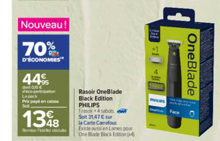 Carrefour Rasoir Oneblade Black Edition Philips