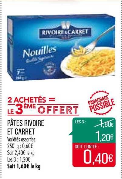Match Pâtes Rivoire Et Carret