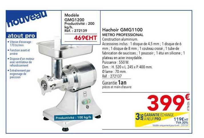 METRO Hachoir Gmg1100 Metro Professional
