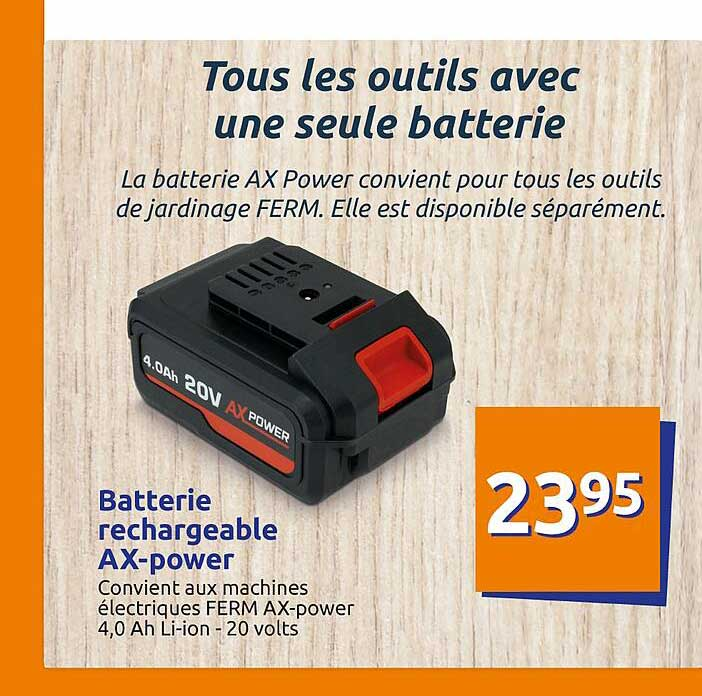 Action Batterie Rechargeable AX-Power