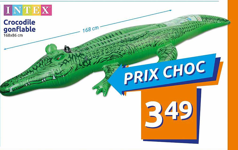 Action Intex Crocodile Gonflable