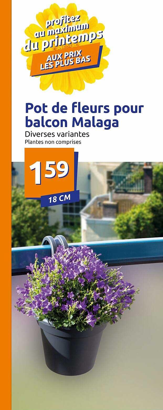 Action Pot De Fleurs Pour Balcon Malaga