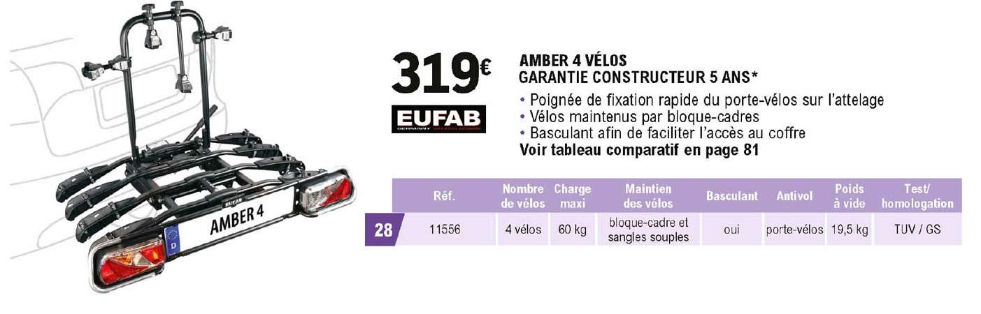 E.Leclerc L'Auto Eufab Amber 4 Vélos