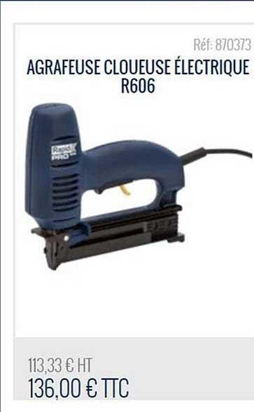 Bricoman Agrafeuse Cloueuse électrique R606