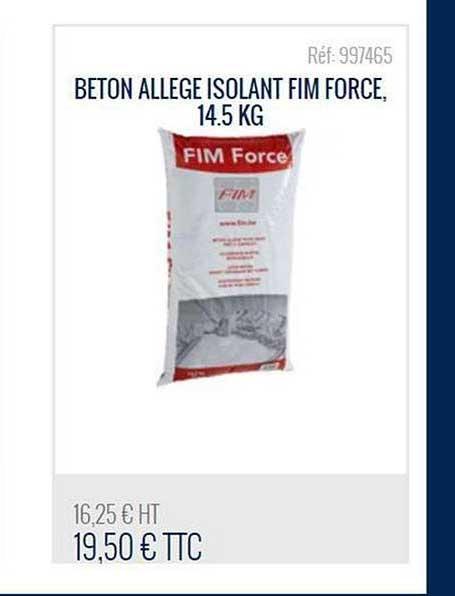 Bricoman Beton Allege Isolant Fim Force 14.5 Kg