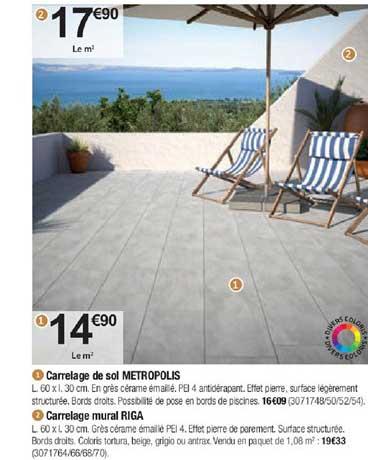 Offre Carrelage De Sol Metropolis Carrelage Mural Riga Chez Bricorama