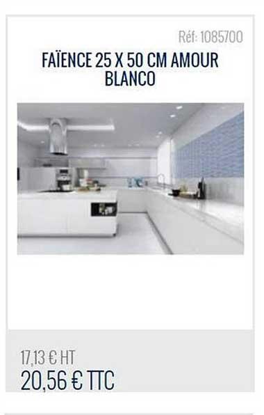 Bricoman Faïence 25x50 Cm Amour Blanco