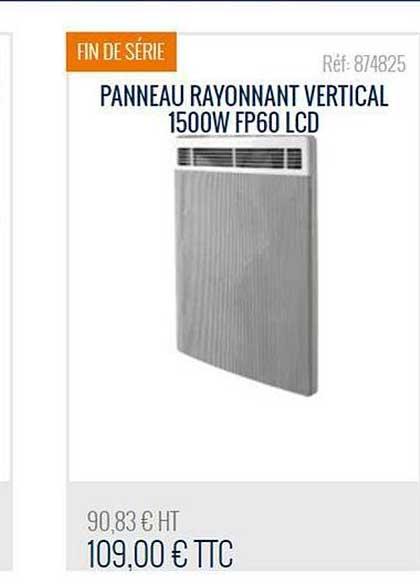 Bricoman Panneau Rayonnant Vertical 1500w Fp60 Lcd