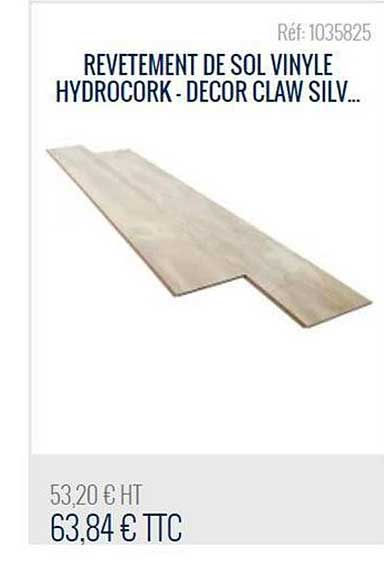 Bricoman Revêtement De Sol Vinyle Hydrocork Decor Claw Silv...