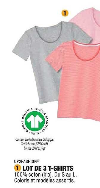 Aldi Lot De 3 T Shirts Up2fashion