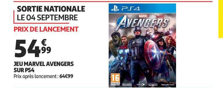 Auchan Jeu Marvel Avengers Sur Ps4