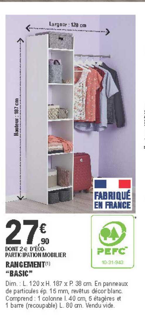 Offre Rangement Basic Chez Eleclerc Brico